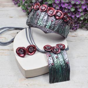 "Oryginalny komplet biżuterii ""letnia łąka"""