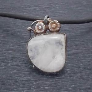Oryginalny wisior srebro i kamień księżycowy