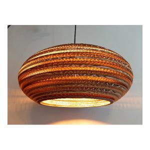 Owalna lampa wisząca z tektury - Stone 45