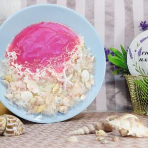 Ozdobny talerz - różowe fale
