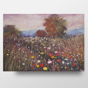 Pachnąca łąka -praca wykonana pastelami suchymi