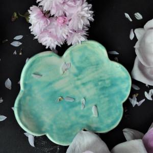 Paleta turkusowa ceramiczna do podkładu chmura