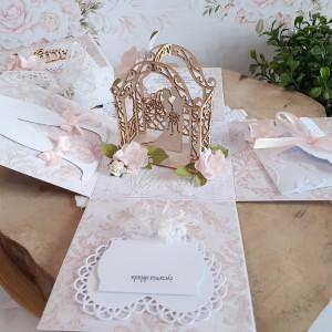 Pamiątka na ślub Glamour  - exploding box 1