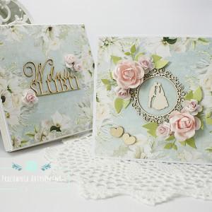 Pamiątka na ślub  - kartka w pudełku 10