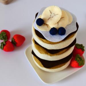 Pancake filcowy / Jedzenie filcowe / Filcowe owoce