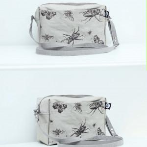 Papierowa torba z autorską grafiką! owady robaki
