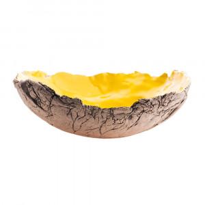 Patera / Miska ceramiczna żółta duża
