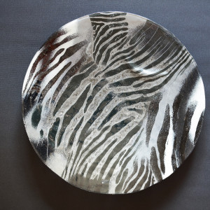 Patera Szklana Zebra - średnica 54 cm