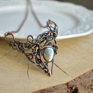 Pearl orient - naszyjnik z perłą słodkowodną