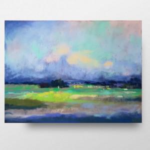 Pejzaż 1 -praca wykonana pastelami 24/18 cm