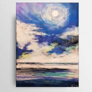 Pejzaż 4-praca wykonana pastelami 18/24 cm