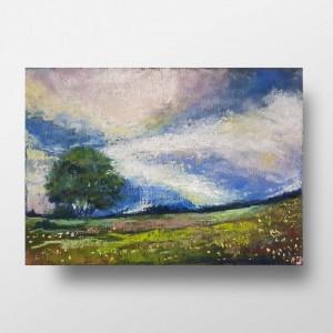 Pejzaż  -praca wykonana pastelami suchymi