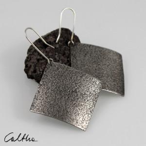 Piasek - srebrne kolczyki lub klipsy 191119-03
