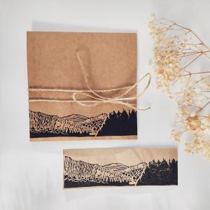 Piękny prezent - Kartka i zakładka Eco Góry