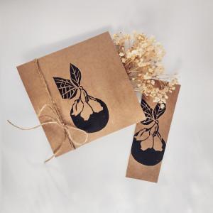 Piękny prezent - Kartka i zakładka Eco Jaśmin