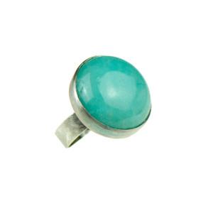 Pierscień z niebieskim kamieniem Nadia a758