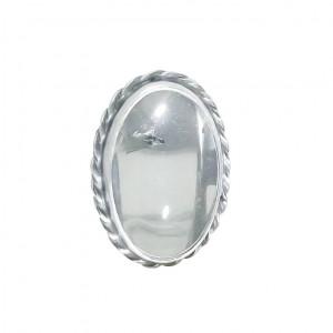 Pierścionek kryształ górski w srebrze vintage