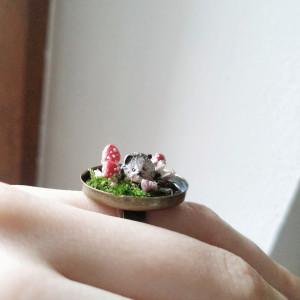 Pierścionek Leśne opowieści Jeż, miniatura