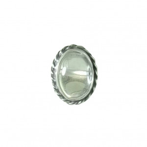 Pierścionek nieduży kryształ górski srebro vintage