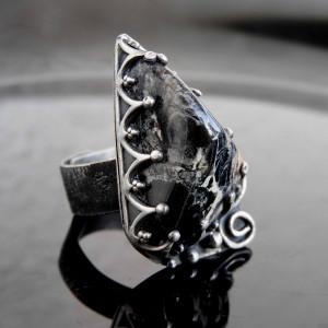 Pierścionek srebrny z jaspisem