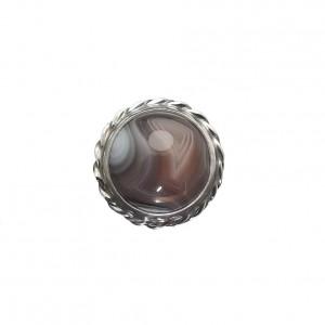 Pierścionek vintage agat w srebrze
