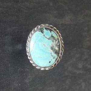 Pierścionek vintage turkus w srebrze