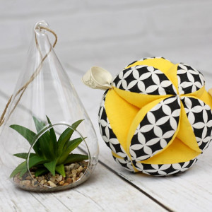 Piłeczka puzzlowa Takane-czarne maroko+żółty