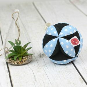 Piłeczka puzzlowa Takane-gwiazdy niebieskie+czarny