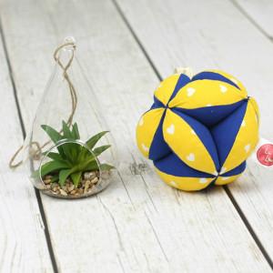 Piłeczka puzzlowa Takane-serduszka żółte+niebieski