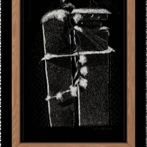 Plakat obraz ręcznie rysowany botaniczny Bluszcz