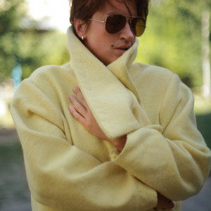 Płaszcz żółty #platie_2227