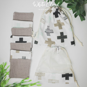 Płatki kosmetyczne wielorazowe-wafel bawełna 7 szt