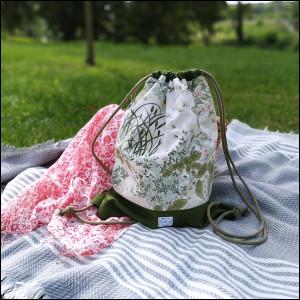 Plecak bawełniany łąka
