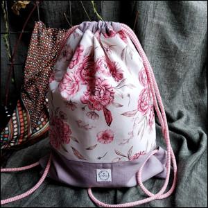 Plecak damski - piwonie