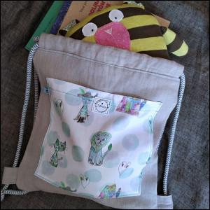 Plecak worek - bajkowe koty