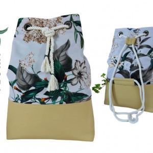 Plecak worek kwiatowy