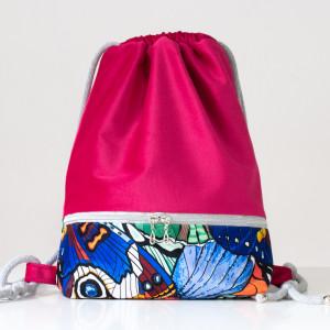 Plecak worek - malinowy