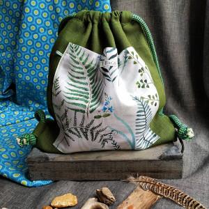 Plecak worek - paprocie