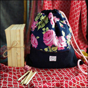 Plecak worek - róże
