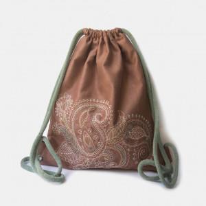 Plecak worek z kolorowym haftem