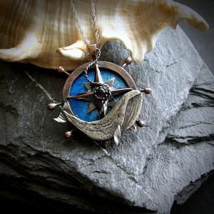 Płetwal Błękitny - Marynistyczny Naszyjnik