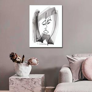 Pocałunek, obraz czarno biały, 60 x 80
