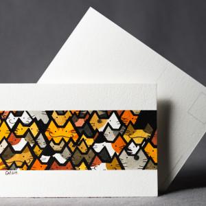 Pocztówka koty akwarela ręcznie malowana