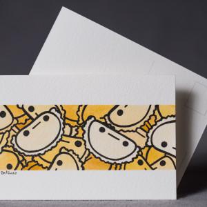 Pocztówka pierogi ręcznie malowana