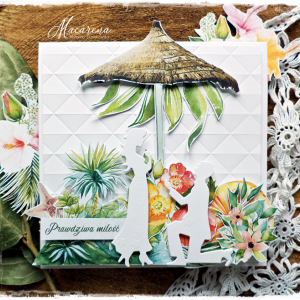 Pod palmami - kartka ślubna