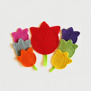 Podkładki tulipany 6+1