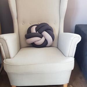 Poduszka dekoracyjna dwukolorowa