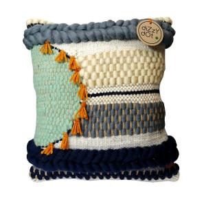 Poduszka dekoracyjna, wełniana, tkana na krośnie