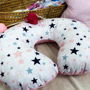 Poduszka do karmienia różowa gwiazdki
