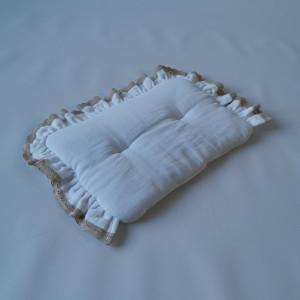 Poduszka do kokonu/ rożka/ otulacza muślinowa biel